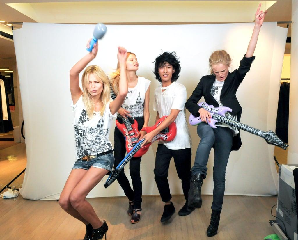 Alexander Wang and Models Rock Out