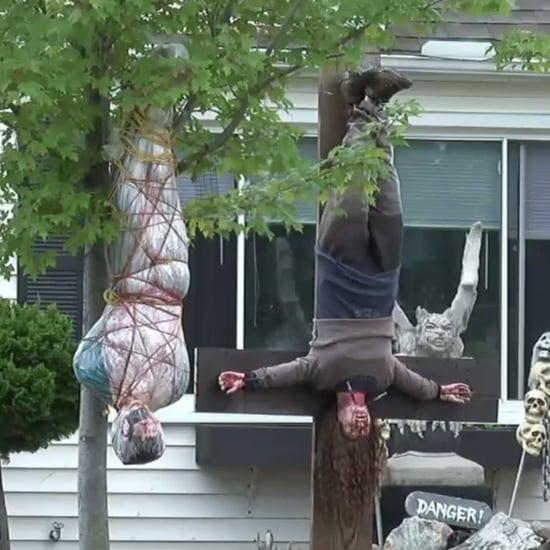 Graphic Halloween Decorations in Ohio