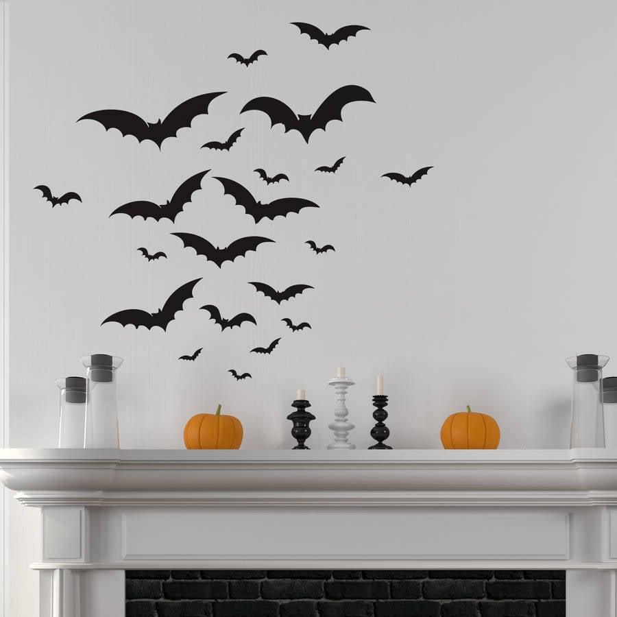 Nutmeg Halloween Bats Wall Sticker Set Cute Halloween Decorations