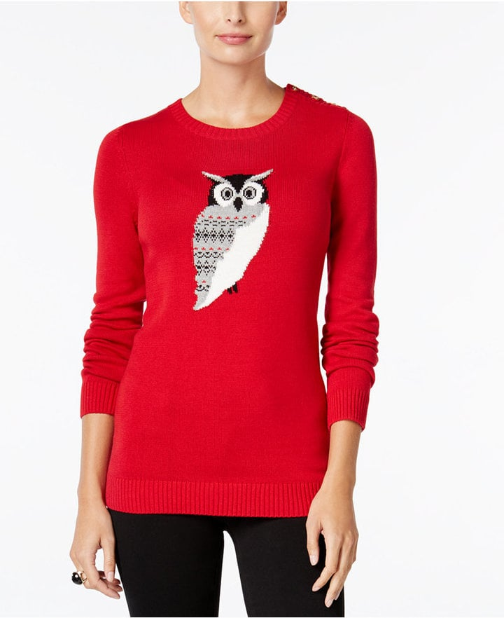 Owl Graphic Sweater