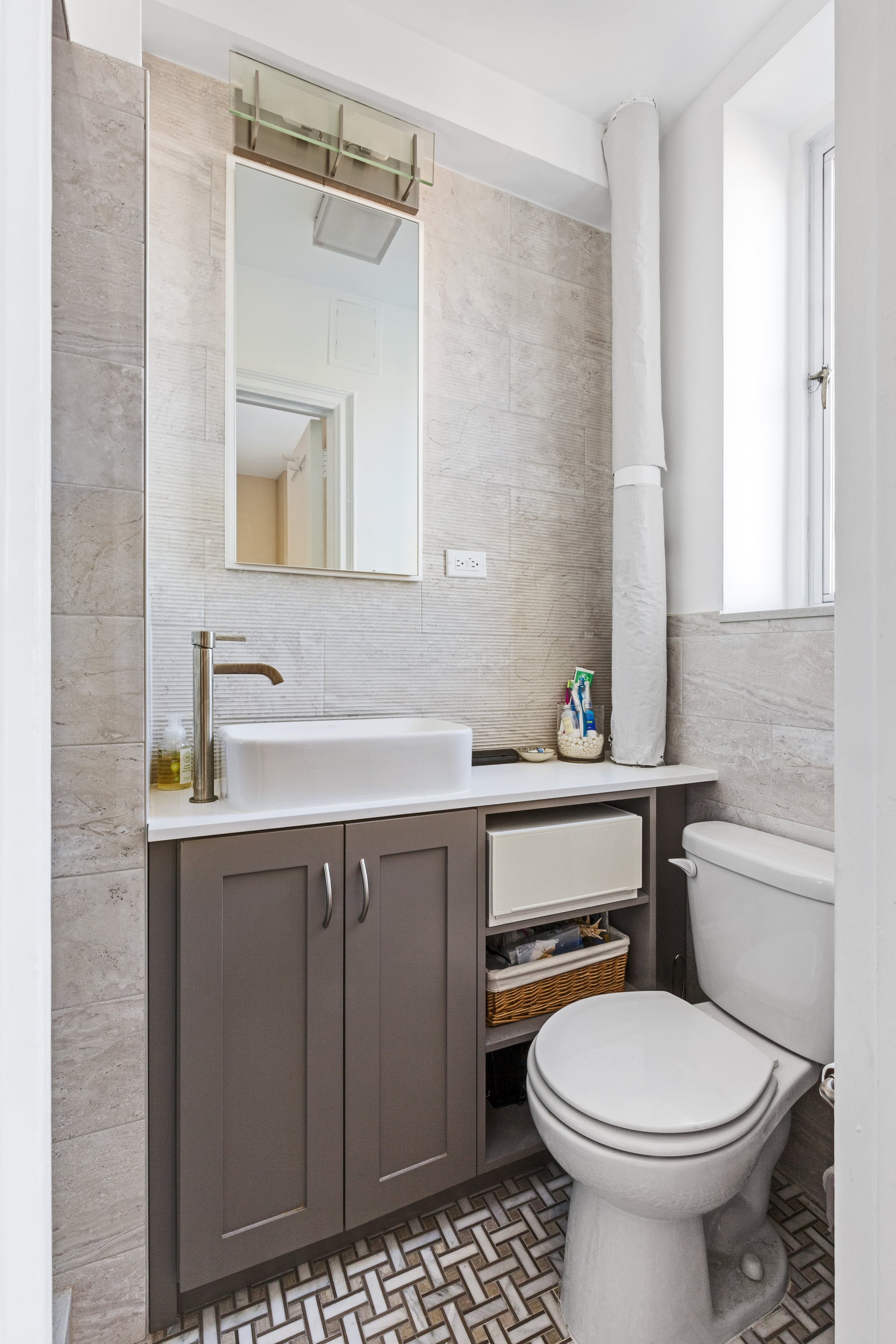 Image of: Small Bathroom Remodels Before And After Popsugar Smart Living