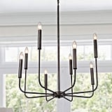 Laluz Rust Kitchen Island Lighting Transitional Chandelier