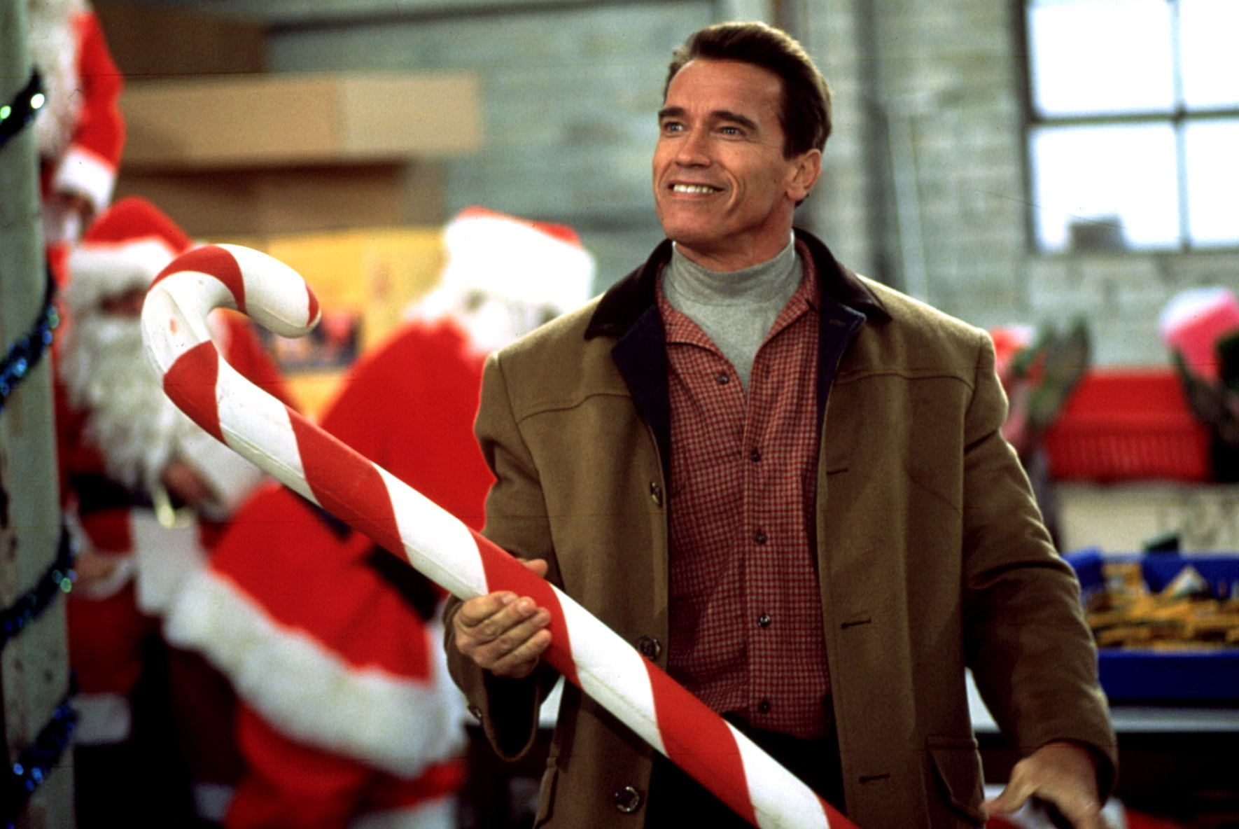 JINGLE ALL THE WAY, Arnold Schwarzenegger, 1996, TM & Copyright (c) 20th Century Fox Film Corp. All rights reserved.