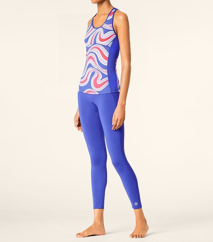 Shelf-Bra Fitted Tank and Seamless Cropped Legging
