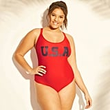 Plus-Size USA Scoop Back One-Piece Swimsuit