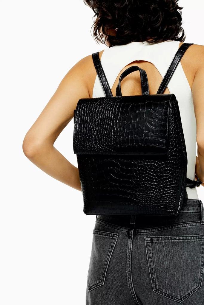 Topshop Blaze Black Backpack