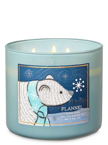 Bath & Body Works Flannel 3-Wick Candle