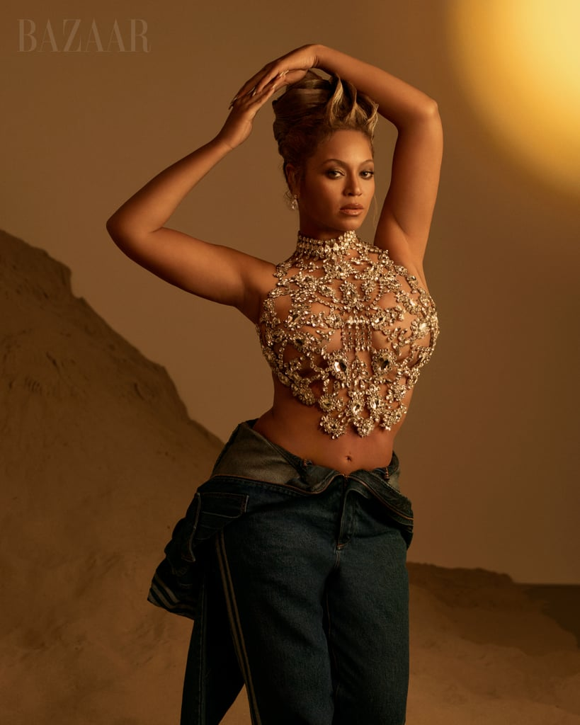 Beyoncé's Outfits Harper's Bazaar September Icons Cover 2021