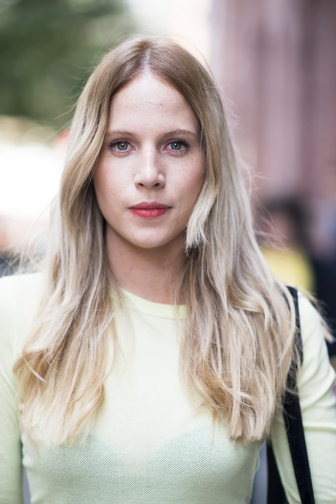 Lipstick that looks looks a little lived-in is perfect for casualwear. Photo by Le 21ème   Adam Katz Sinding