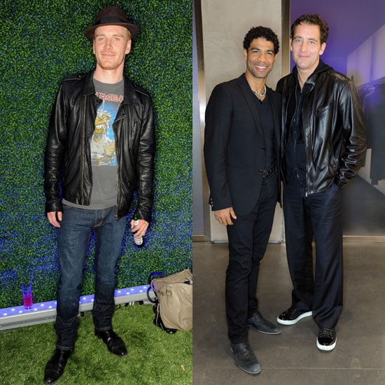 Clive Owen and Michael Fassbender Pictures at Armani Party