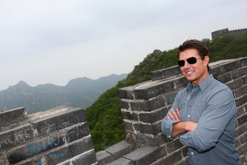 Tom Cruise surveyed the Great Wall of China.