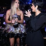 Jennifer Lopez and Cardi B at the 2018 MTV VMAs