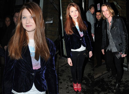 Photos of Bonnie Wright and Jamie Campbell Bower at Best of British Talent InStyle Party