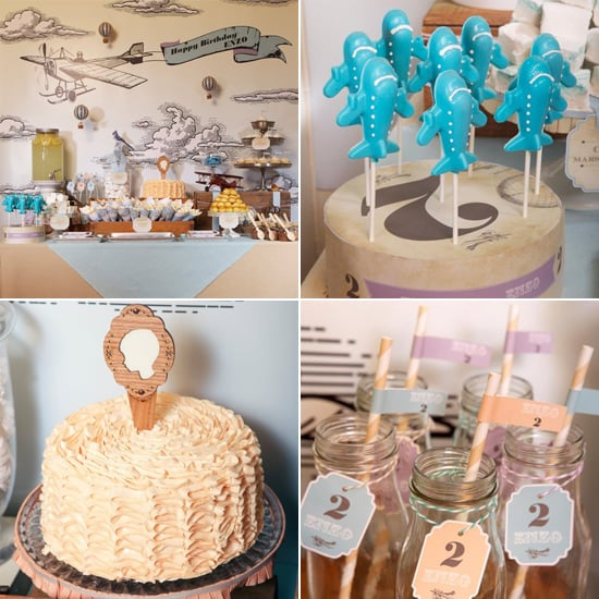 Vintage Airplane Birthday Party POPSUGAR Moms