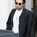 Robert Pattinson wore a black hat and black jacket in Sydney.