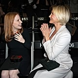 Jessica Chastain Gets Her Good Oscar News Front Row at Armani With Cameron Diaz