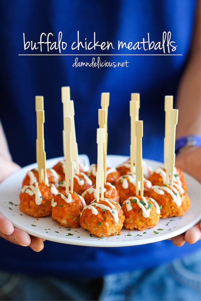 Slow-Cooker Buffalo-Chicken Meatballs