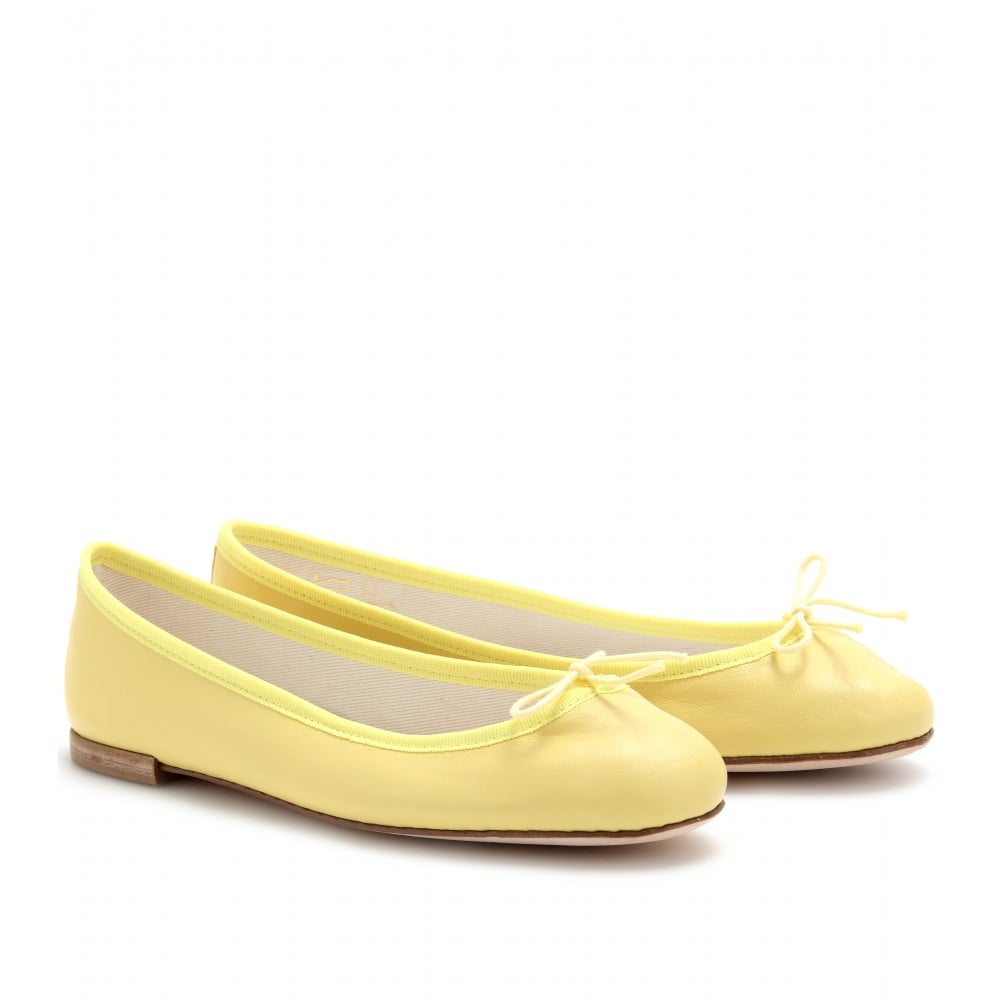 Wear these pretty yellow flats with white jeans for a sugary-sweet combo.  Repetto Leather Ballerina Flats ($253)