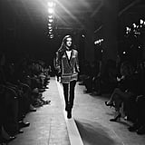 Alessandra Ambrosio hit the catwalk in a quintessential Balmain style.