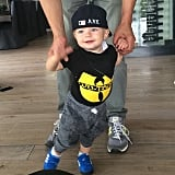 Axl Duhamel represented the East Coast this week in his Wu-Tang Clan tee.