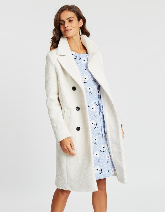 Dorothy Perkins Boucle Midi Double-Breasted Coat ($139.95)