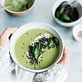Vegan: Creamy Broccoli Rabe Soup With Crispy Quinoa and Vegan Yogurt