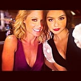 Modern Family's Ariel Winter cozied up to costar Julie Bowen during a photo shoot. Source: Instagram user arielwinter
