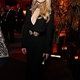 Presenter Kate Hudson wowed party goers with her statement Alexander McQueen gown.