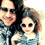 """Skyler and Roger snuggled up in this photo Rachel Zoe posted, saying, """"Happy Father's Day to the best husband and daddy my everything @rbermanus #love #liveforyou #skylermorrison #kaiusjagger."""" Source: Instagram user rachelzoe"""