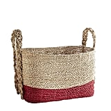 Harden Square Basket with Red Bottom