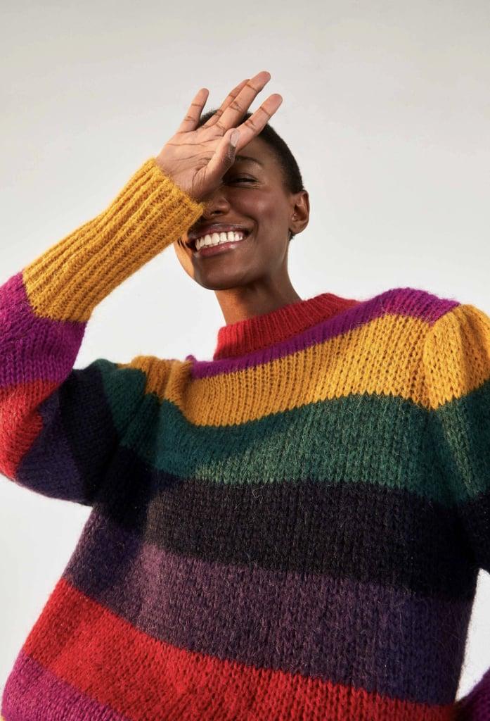 Farm Rio Striped Sweater