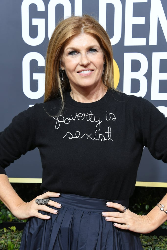 Connie Britton Wore Her Feminism Proudly on Her Chest at the Golden Globes