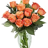 Bouquet of Fresh Orange Roses