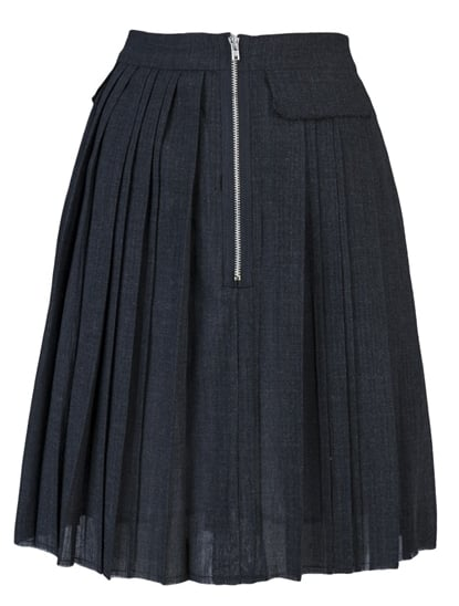 We love that this ladylike fit and more demure length gets an edgy accent with the exposed zip on this Boy. by Band of Outsiders Pleated Pocket Skirt ($545).
