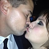 Lena Dunham shared a kiss with Andrew Rannells. Source: Instagram user lenadunham