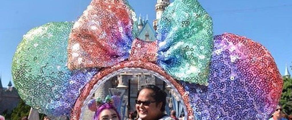 Unicorn Rainbow Minnie Ears