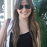 Need a styling idea for extralong bangs? Look to Carolina's bohemian style that's parted down the middle.
