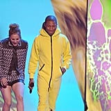 Kaley Cuoco-Sweeting and Pharrell Williams were semi-prepared for their sliming