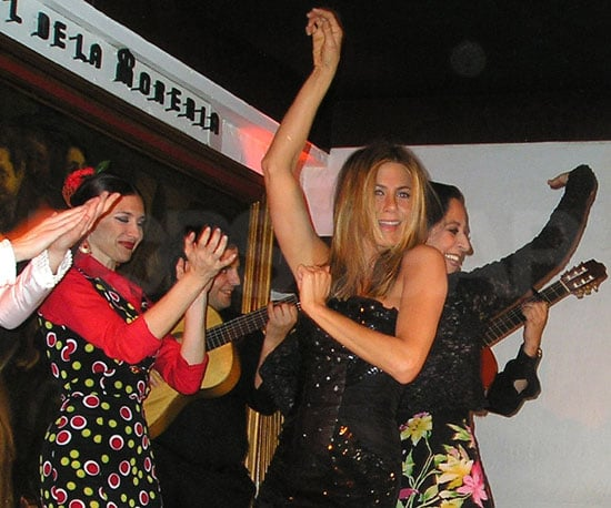 Slide Photo of Jennifer Aniston Dancing in Madrid