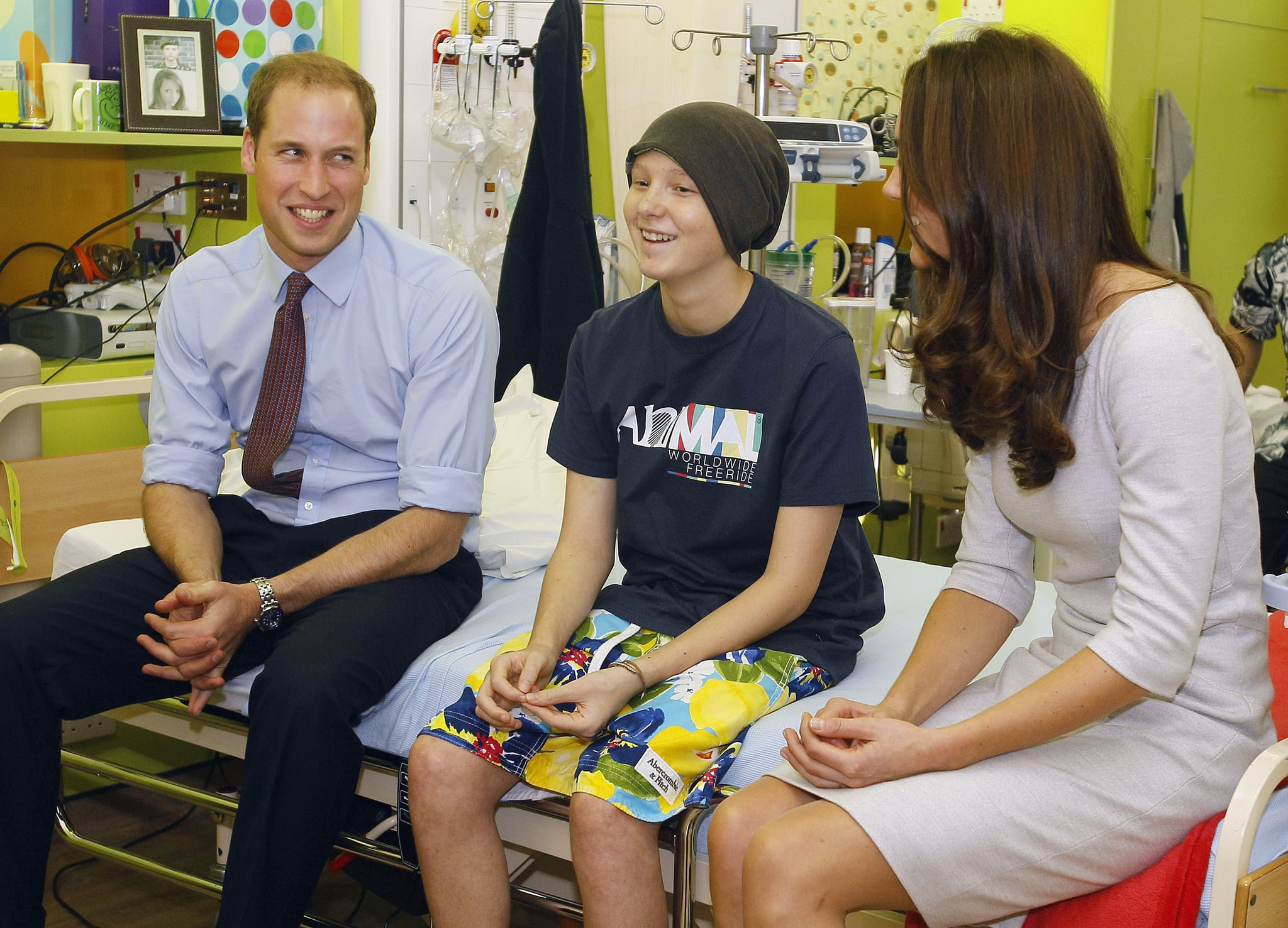 Prince William and Kate Middleton visited with patients at a youth cancer center.