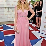 Holly Willoughby was pretty in pink Jenny Packham.