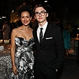 Nathalie Emmanuel and Isaac Hempstead Wright