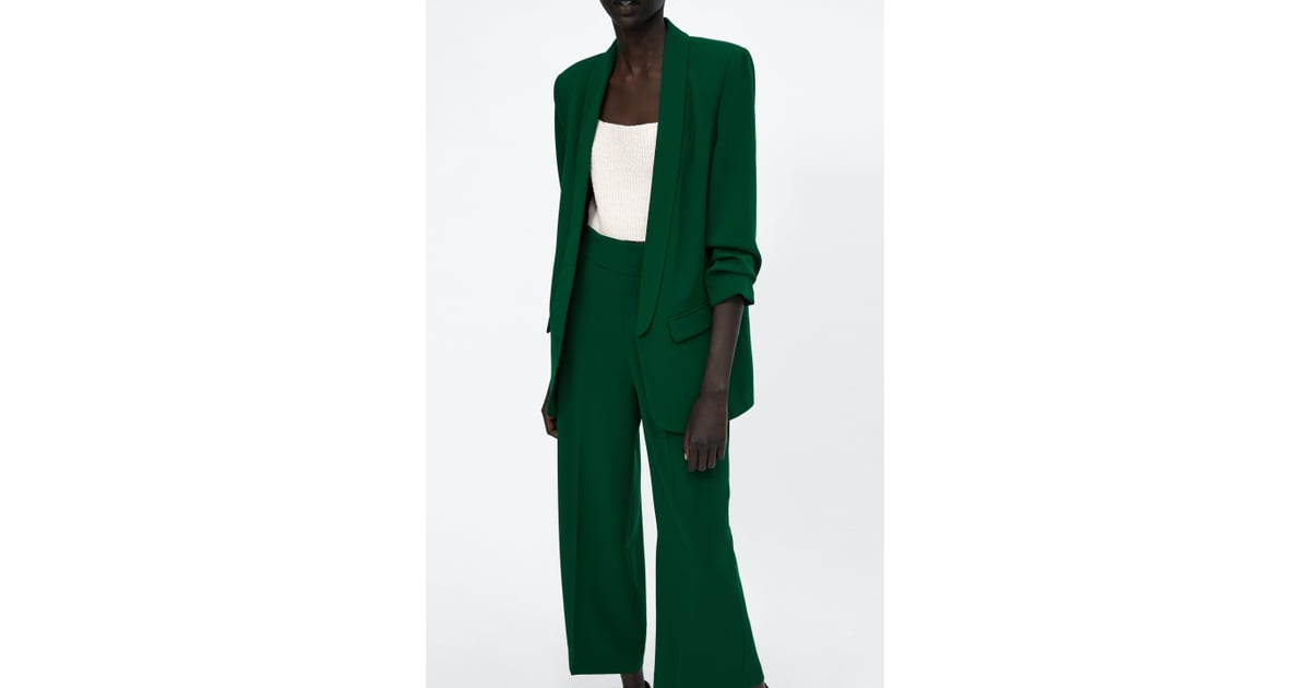 Crepe Dress Zara Green Friends From Like To Blazer Rachel How 1UqrqIHd
