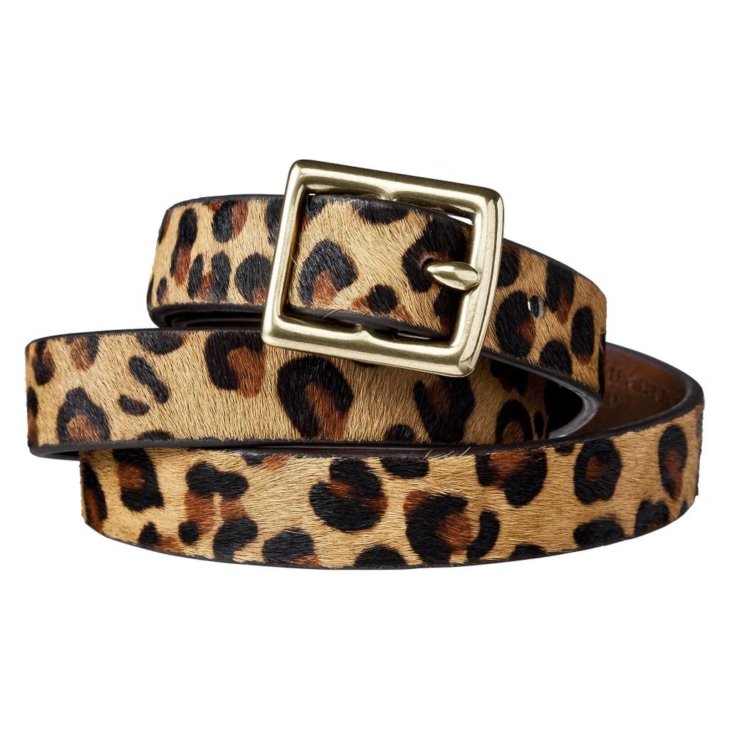 Women's Leopard Print Calf Hair Belt