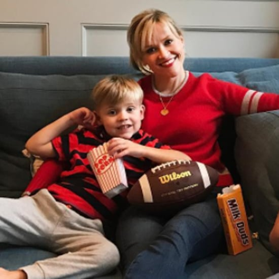 Reese Witherspoon Watching the Super Bowl With Her Sons 2017
