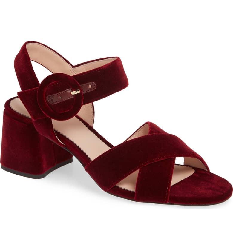 j crew red sandals