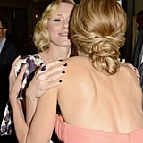 Naomi Watts shared a hug with Petra Nemcova.