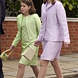 Princess Eugenie and Princess Beatrice at Church on Prince Philip's 80th Birthday