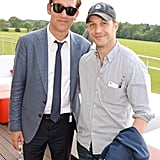 With Clive Owen at the Audi Polo Challenge in 2014.