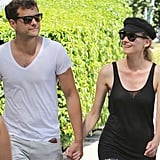 Joshua Jackson and Diane Kruger smiled together and held hands in Vancouver.